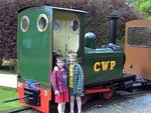 Picture of Nicholas & Jonathan in front of the Cotswold Wildlife Park Train