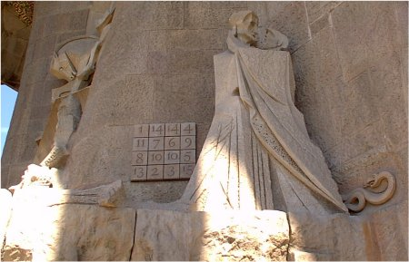 Magic Square at Gaudi's cathedral in Barcelona