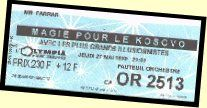 Picture of ticket for Magie Pour Le Kosovo