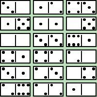 Domino 6 x 6 Magic Square Picture