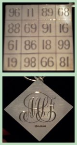 Reversible Magic Square made in solid silver by Rex Cooper on behalf of the members of the NMC for services to the Club
