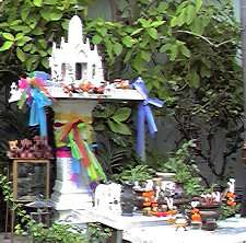 View of a spirit house