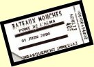 Picture of one of our Bateaux Mouches tickets
